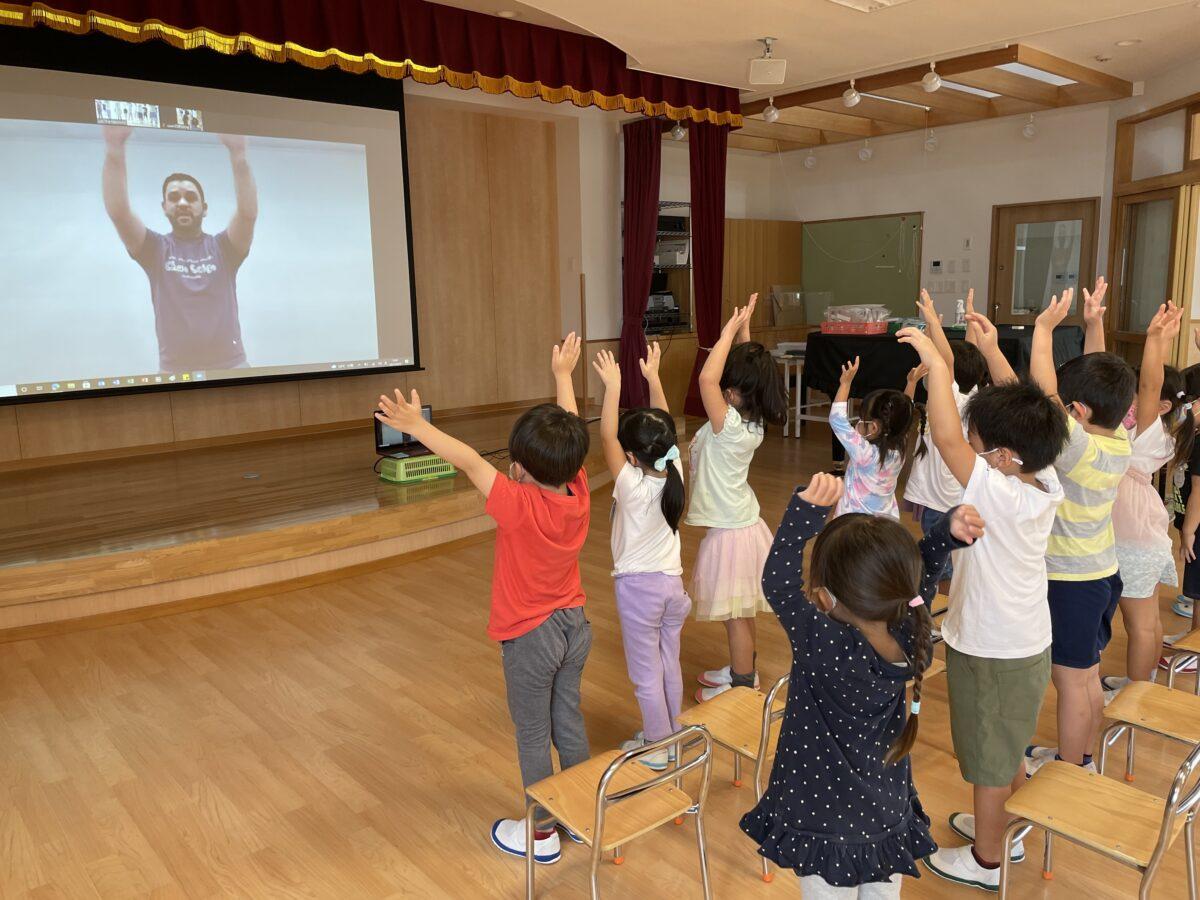 オンラインで英語教室を行いました♪